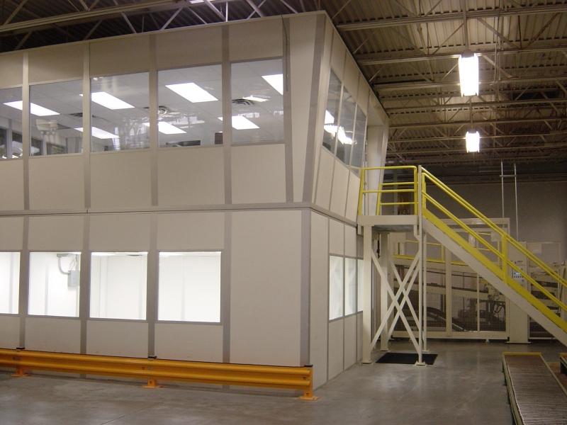 warehouse mezzanine modular office. 2-Story Canted Modular Office Warehouse Mezzanine